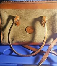 Vintage  Dooney & Bourke Handbag Taupe British Tan Satchel Handles/ Shoulder Bag