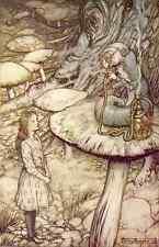 A3 Photo Rackham Arthur 1907 Alice & the Caterpillar Print Poster