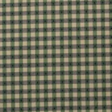 """STRIPED CHECK PLAID BLUE GREEN TISSUE PICK MULTIPURPOSE FABRIC BY YARD 55""""W"""