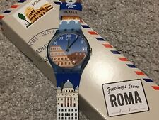 "NEW SWATCH GREETINGS FROM ROME DESTINATION WATCH ""COLOSSEO"" SUOZ308 ROMA"