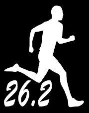 26.2 MARATHON RUNNER Vinyl Decal Sticker Car Window Wall Bumper Running Man 13.1