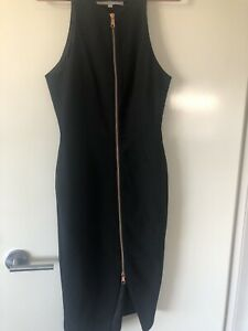 blessed are the meek Size 1 Black Midi dress Zip Up Front