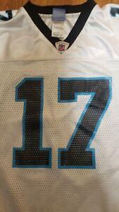 YOUTH NFL PANTHERS CAROLINA # 17 JAKE DELHOMME REEBOK Women JERSEY L 14-16