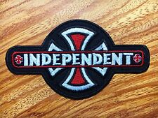 INDEPENDENT TRUCKS CO'  Bar & Cross - Iron On / Sew On Skateboard Patch New