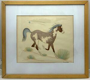 Vintage Harrison Begay Horse Silkscreen Serigraph Framed & Matted