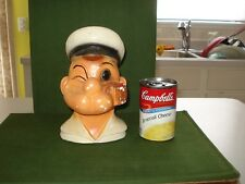Scarce Vintage 1960's Popeye Head Bank, Fully Authorized, Made In Mexico