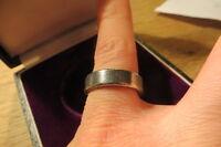 Klasse 925 Silber Ring Designer Unisex Schlicht Massiv Antik Finish Zerkratzt