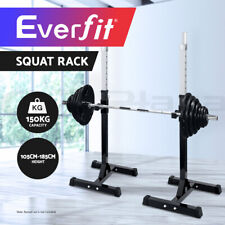 Everfit 2 x Squat Rack Pair Fitness Exercise Weight Lifting Gym Barbell Stand