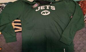 NFL REEBOK NEW YORK JETS HEAVY WEIGHT REVERSIBLE HOODED SWEATSHIRT NEW SIZE L