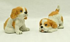 Lot of 2 Vintage Homco Cocker Spaniel Floppy Eared Puppies Dogs #1407