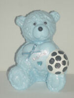 Personalised Football Teddy Bear Grave Side Memorial Boy Outdoor Garden Ornament