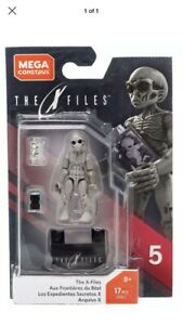 Mega Construx Series 5 HEROES - THE X FILES - GREY ALIEN 17 pcs GDB13 New in Box