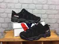 FILA MENS UK 8 EU 42 BLACK SPAGHETTI LOW TRAINERS RRP £100