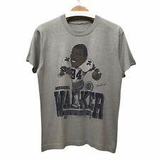 Vintage 1987 Cowboys NFL Herschel Walker 34 Grey Tee Shirt Single Stitch Fit M