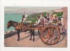 Taormina Carretta Siciliano Italy Vintage Postcard 106b