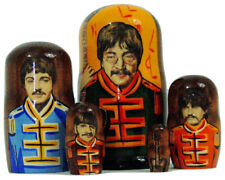 5pcs Handmade Russian Nesting Doll of The Beatles Sergeant Pepper (7 inches tall