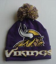 "Minnesota Vikings ""Colossal"" Adult Knit Pom-Top Cap Authentic! New Era / NFL"