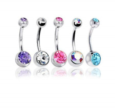 BODYA Belly Bars Balls Surgical Steel Belly Button Jewelry, Pack of 5, Body