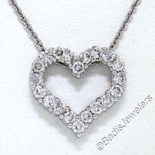 Collares y colgantes de joyería de oro blanco de 18 quilates, amor y corazones