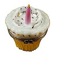 New Rochard Cupcake With Pink Candle Limoges Box Authorized Dealer