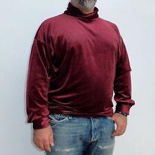 GIANNI VERSACE burgundy velvet men's shirt Italian size 50 from winter 1990