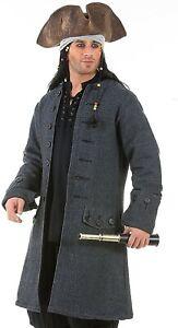 Jack Sparrow Pirate Renaissance Medieval Mens Costume Coat
