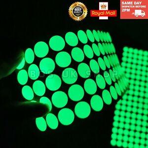 60Pcs Glow In The Dark Round Dot Luminous Sticker Self-Adhesive Vinyl Room Decal
