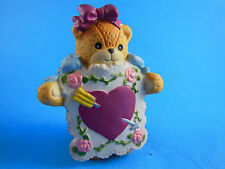 Lucy & Me Enesco Valentine Heart Sandwich board Bear Figurine Lucy Rigg 1991