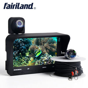 Under Water Fish Finder Video Record Boat Depth 2 Cameras Fishing Co-Fish Finder