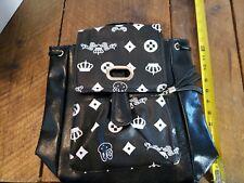 Women Backpack Faux Leather Black Shoulder Bag Tote Handbag Travel Satchel Purse