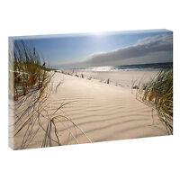Wandbild Bilder Strand Meer Bild Nordsee Leinwand  Poster XXL 120 cm*80 cm 619