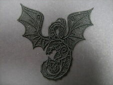 Black Embroidered Dragon Applique Sewing/Costume/Crafts/Victorian (Any Colour)