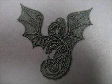 Negro Bordado Dragon Apliques sewing/costume/crafts / Victoriano (cualquier Color)
