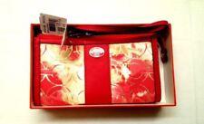 NIB Coach Legacy Floral Canvas Op Art Wristlet Zippy Wallet 49214B B4/OU Coral