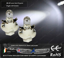 LED Cap B8.4D Xenon White Dashboard Cluster Speedometer Instrument Light Bulbs