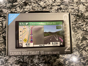 New Garmin Drivesmart 55 EX GPS With Traffic