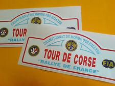 TOUR DE CORSE Vintage Race Rally Car Stickers Decals 2 off 150mm