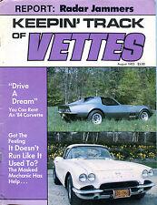 Keepin' Track Of Vettes Magazine August 1983 Radar Jammers EX 022216jhe