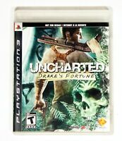 Uncharted Drake's Fortune (Sony PlayStation 3, 2007) Tested with Manual