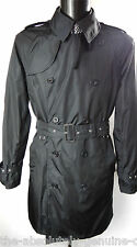 AQUASCUTUM Navy Blue Double Breasted AQUAMAC Packable Trench Rain Coat XL BNWT