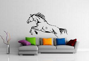 Wild Horse Mustang Jump Freedom Animal DECOR Wall MURAL Vinyl Art Sticker M334