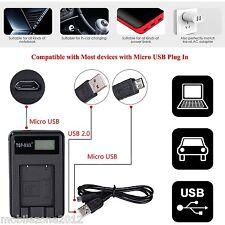 Camera battery charger & USB cable Samsung PL20 PL22 PL80 PL81 PL100 PL101 PL120