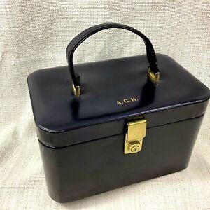 Asprey pelle Mid Secolo Modern Vintage da Viaggio Vanity Custodia 1960s 70s Raro