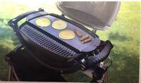 Weber 1434 Porcelain Enamel Cast Iron Griddle Q200/2000  Portable Barbecue Grill