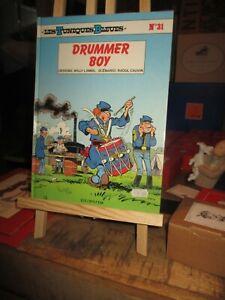 Lambil-Cauvin-Tuniques bleues + planches a billets(dollars)-Drummer Boy-EO 1990
