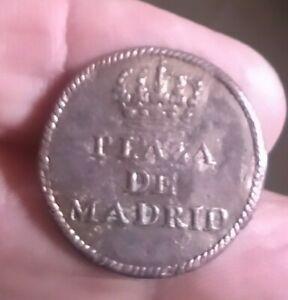 25sp Botón Militar Guerra De Independencia  Plaza De Madrid Escaso
