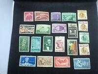US Stamps1958 Commemoratives Scott # 1100 - 1123 (21 Stamps) OG Superb