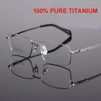 CEO Designer Titanium Frames Reading Glasses Optical Lens Full Rim +1.00~+6.00