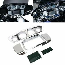 Chrome Tri-Line Gauge Trim Covers For Harley Touring Electra Street Glide 14-19
