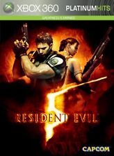 XBOX 360 Resident Evil 5 Video Game PLATINUM HITS five horror zombie RE-SEALED